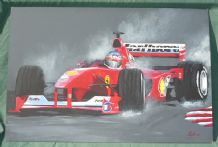 Ferrari F2000 Michael Schumacher. Acrylic on Canvas board